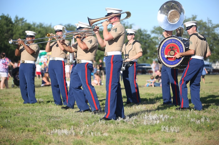 The Marine Corps Recruit Depot Parris Island Band performs during an Independence Day celebration aboard MCRD Parris Island July 4.