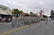 Team Travis marches in the Vallejo Parade, July 4, 2018.