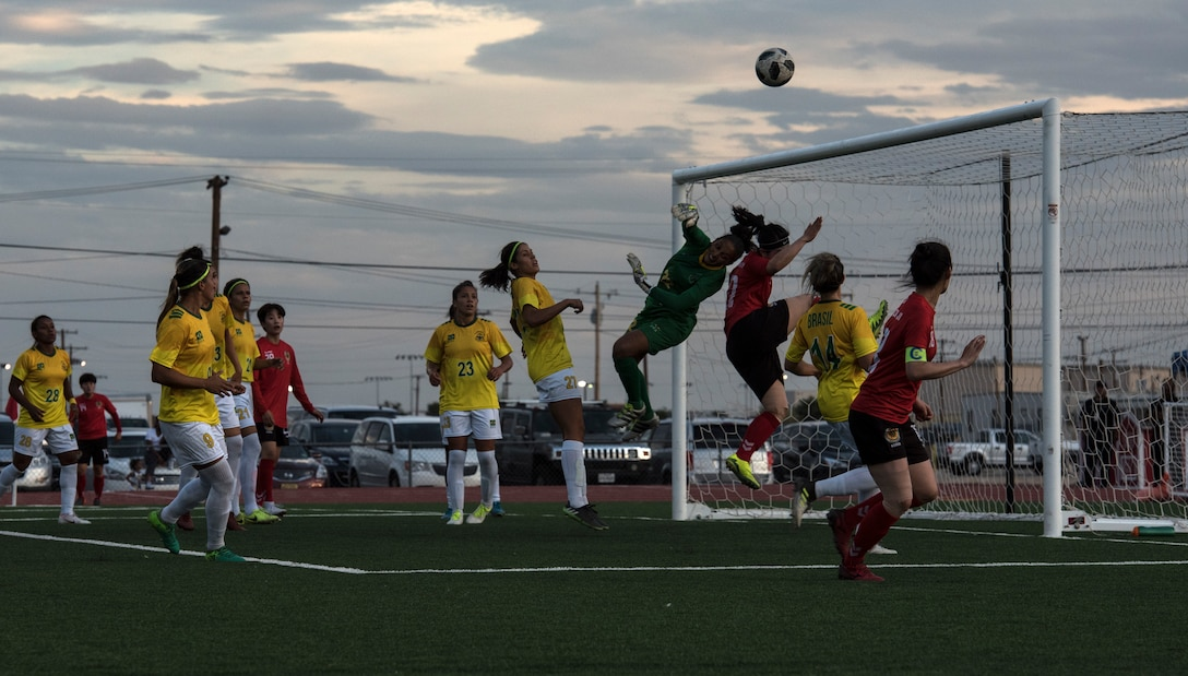 2018. Elite military soccer players from around the world squared off during the tournament to determine who were the best women soccer players among the international militaries participating