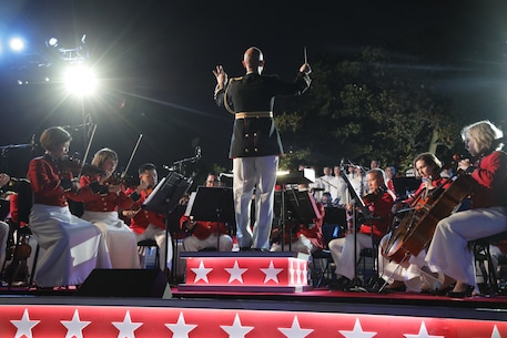 On July 4, 2018, the Marine Chamber Orchestra performed for the Fourth of July at the White House program featured live on the Hallmark Channel. (U.S. Marine Corps photo by Master Sgt. Simmons/released)