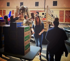The Defense Supply Center Columbus Morale, Welfare and Recreation's 2018 Operation Cookie Drop distributed nearly 800 cases of cookies donated by the Girl Scouts of Ohio's Heartland to more than 3,100 service members from 19 units in Central Ohio.