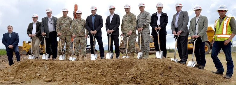On June 5, Honorable Lucian Niemeyer and representatives for the Missile Defense Agency, Air Force, U.S. Army Corps of Engineers and construction contractors gathered for a groundbreaking ceremony at Fort Greely near Delta Junction, Alaska. The event celebrated the start of construction for the $200 million Missile Field Four.