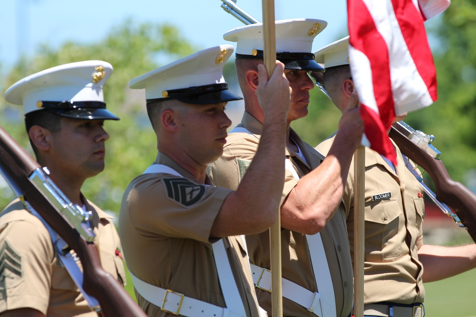 Marines in color guard