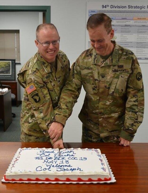 Quartermaster Brigade Bid Farewell during Change of Command Ceremony