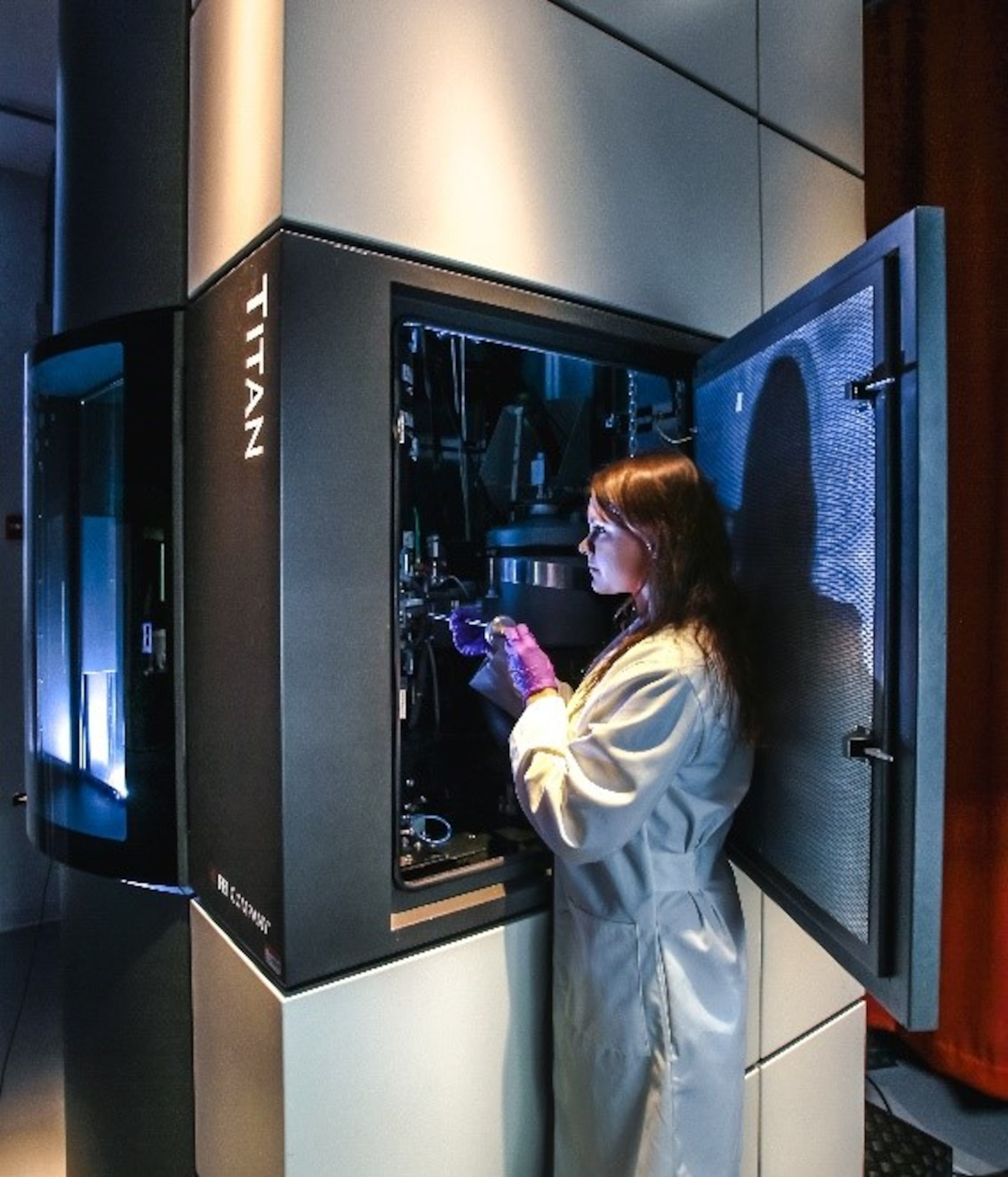 OSU student Julia Deitz uses state-of-the-art electron microscopes to push the boundaries of precision metrology techniques for advanced materials characterization. (Courtesy photo)