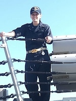 Undated FILE PHOTO of Ens. Sarah Mitchell, 23, of Feasterville, Penn.  Ens. Mitchell, died from injuries sustained aboard USS Jason Dunham