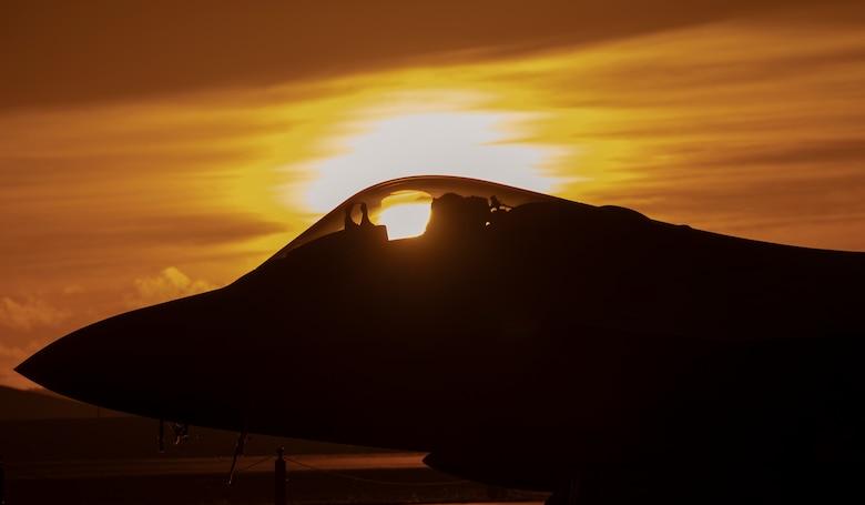 A U.S. Air Force F-22 Raptor from Joint Base Elmendorf-Richardson, Alaska