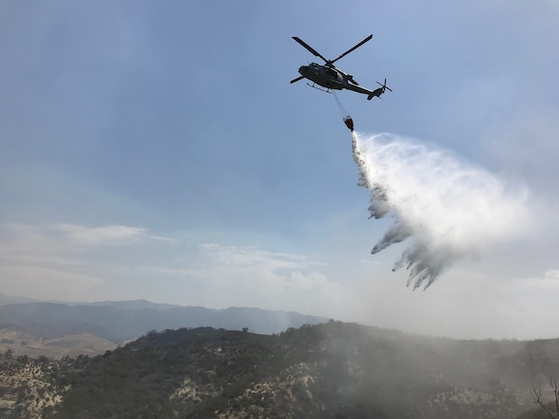 3rd MAW supports firefighting operations at Camp Pendleton