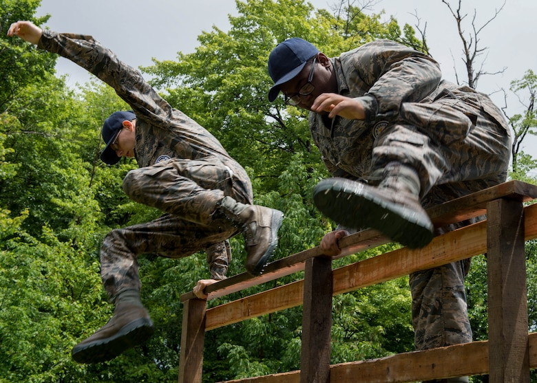 JROTC cadets attended a leadership development camp here, June 20-24.