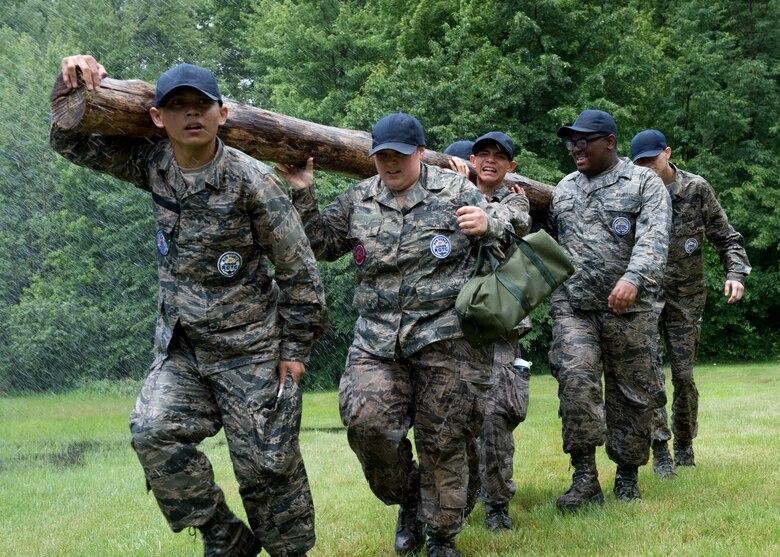 JROTC cadets attended a leadership development encampment here, June 20-24.