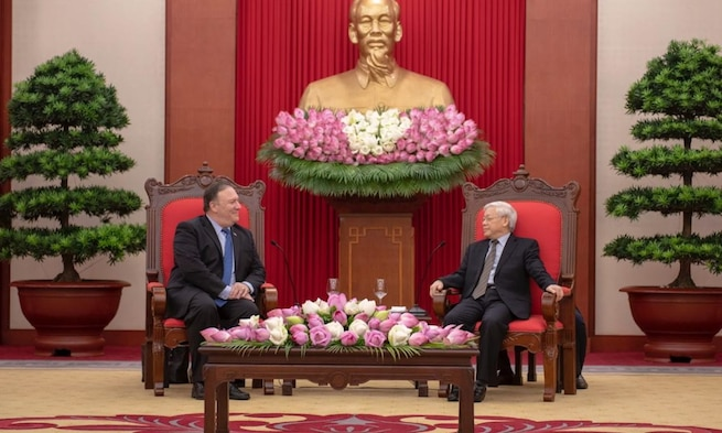 Secretary of State Michael R. Pompeo Meets with Vietnamese General Secretary Nguyen Phu Trong