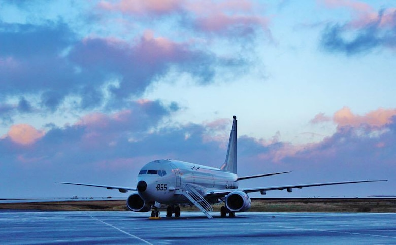 FILE PHOTO (Oct. 26, 2016) A P-8A Poseidon aircraft assigned to Patrol Squadron (VP) 45 is parked on the flight line of Naval Air Station Keflavik. U.S. 6th Fleet, headquartered in Naples, Italy, conducts the full spectrum of joint and naval operations, often in concert with allied, joint, and interagency partners, in order to advance U.S. national interests and security and stability in Europe and Africa.