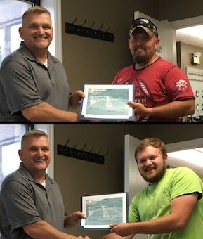 On 22 June 2018 the Yatesville Lake Office received an emergency call about a sinking boat on Yatesville Lake with four people on board. With no rescue or law enforcement agencies available to assist nor Corps park rangers on duty at the time of the call, Joseph Adkins, Crane Operator and Shane Lemaster, Maintenance Laborer, sprang into action. They notified the Assistant Operations Project Manager and then took a government vessel to locate the distressed vessel on the lake
