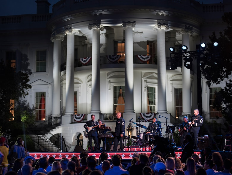 Max Impact performs at the White House