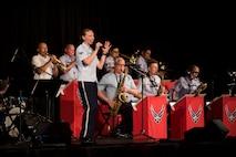 Jazz ensemble playing music