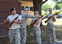 AF Honor Guard train local Airmen