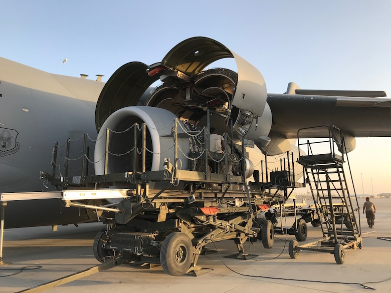A team of en route maintenance Airmen converged from multiple locations to respond as part of a Maintenance Recovery Team, returning a C-17 Globemaster III aircraft back to the mobility fleet from a forward deployed location in Southwest Asia.