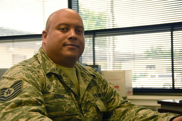 Tech. Sgt. Alejandro Adames, a 301st Communications Squadron client systems technician, shares why he joined the military and his career goals while being interviewed for Spotlight July 5, 2018. The Spotlight series gives a behind-the-scenes look at the men and women who are the driving force of the 301st Fighter Wing.