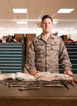 U.S. Air Force Senior Airman Joshua Heffernan, 100th Maintenance Squadron flight aerospace propulsion journeyman, poses for a photo in the composite tool kit section at RAF Mildenhall, England, July 6, 2018. Using Continuous Process Improvement methods, Heffernan and his team created a simple process to order tools and equipment for his flight, reducing order time from 90 days to one day. (U.S. Air Force photo by Senior Airman Kelly O'Connor)
