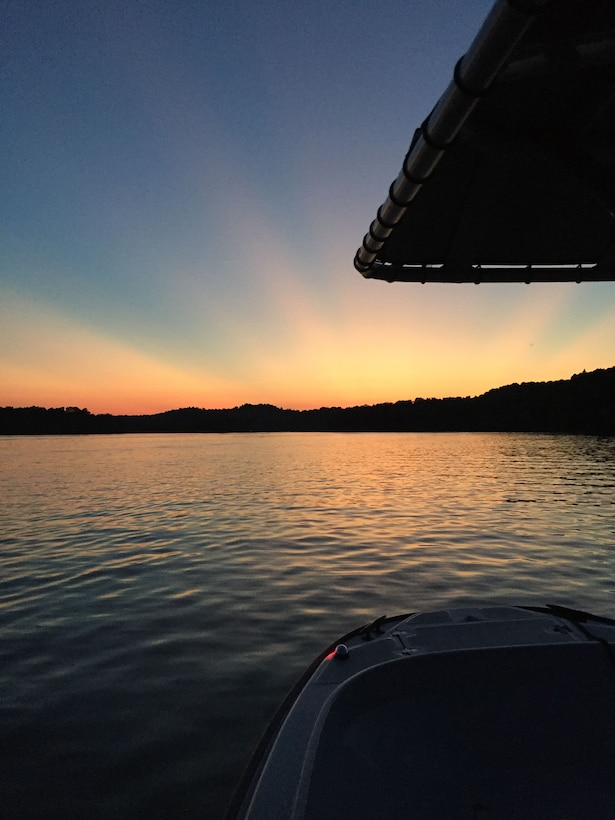 Sunset over Nolin River Lake