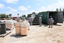 Airmen prepare to Inspect equipment.