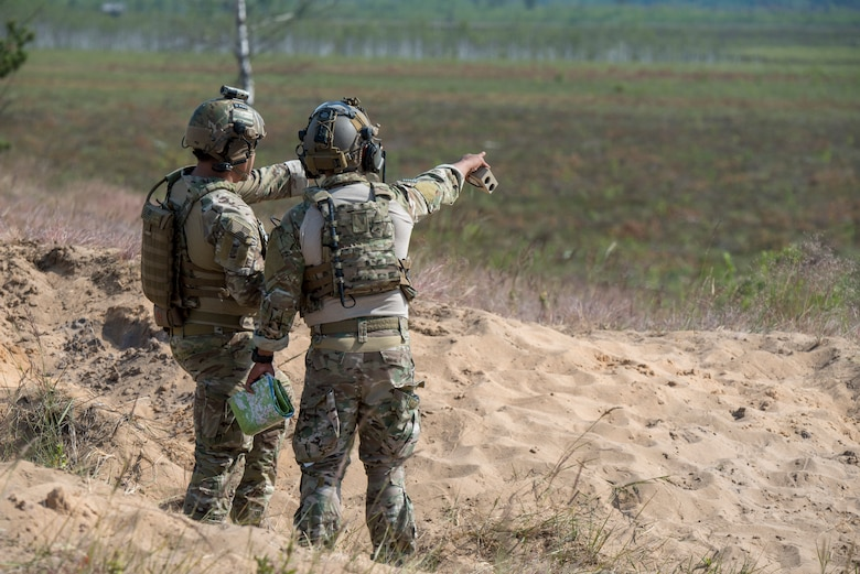 JTAC's on bombing range in Latvia.