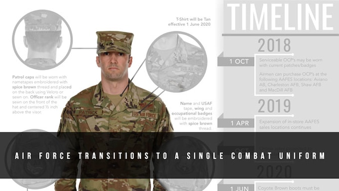 AF Transitions To A Single Combat Uniform