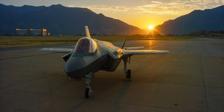 The F-35A Lighting II sits on the flightline at Hill Air Force Base, Utah