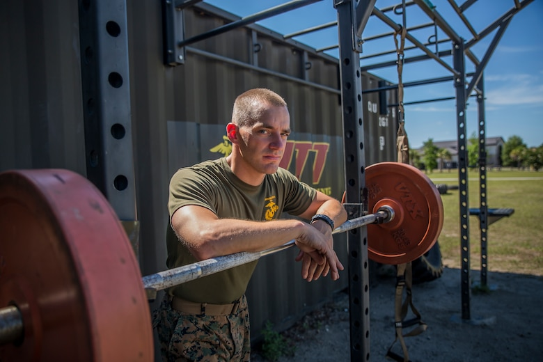 Sgt. Jared Skelley is the Force Fitness instructor with Headquarters and Headquarters Squadron aboard Marine Corps Air Station Beaufort. Skelley specializes in creating workout routines for individual Marines focusing on functional planes of motion, combat readiness and injury prevention.