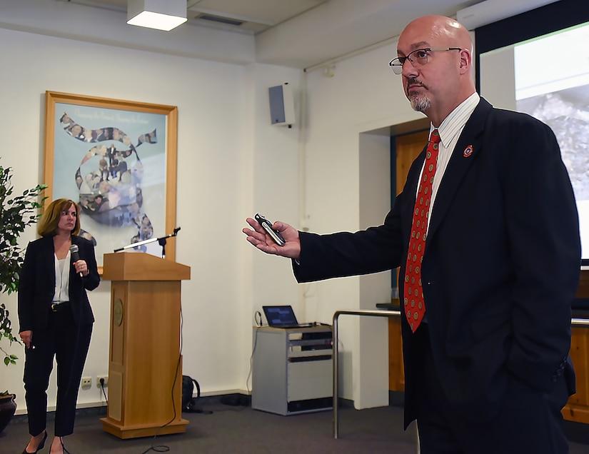 FBI special agents teach an international class about terrorism.