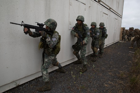 U.S. Marines and RIMPAC participants practice NEO on Island of Hawaii