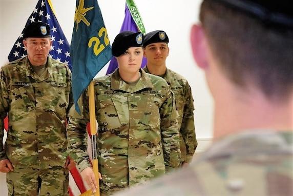 Magill shoulders command of the 221st Public Affairs Detachment