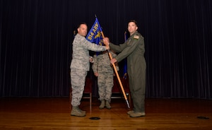 Lt. Col. Ryan G. Smith assumes command of the 328th Air Refueling Squadron