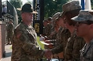 U.S. Army drill sergeant trains future officers