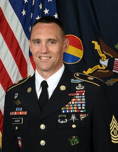 Official Biography photo for Command Sergeant Major Timothy A. Guden, U.S. Army Training and Doctrine Command.