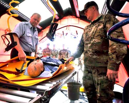 The New York City Fire Department in concert with U. S. Army North (Fifth Army) conducted a training event at the Times Square Church July 10 during the 2018 National Homeland Security Conference. U.S. Northern Command and the City of New York evaluated members of New York's Emergency Services and the New York Army National Guard's response to a simulated chemical event.