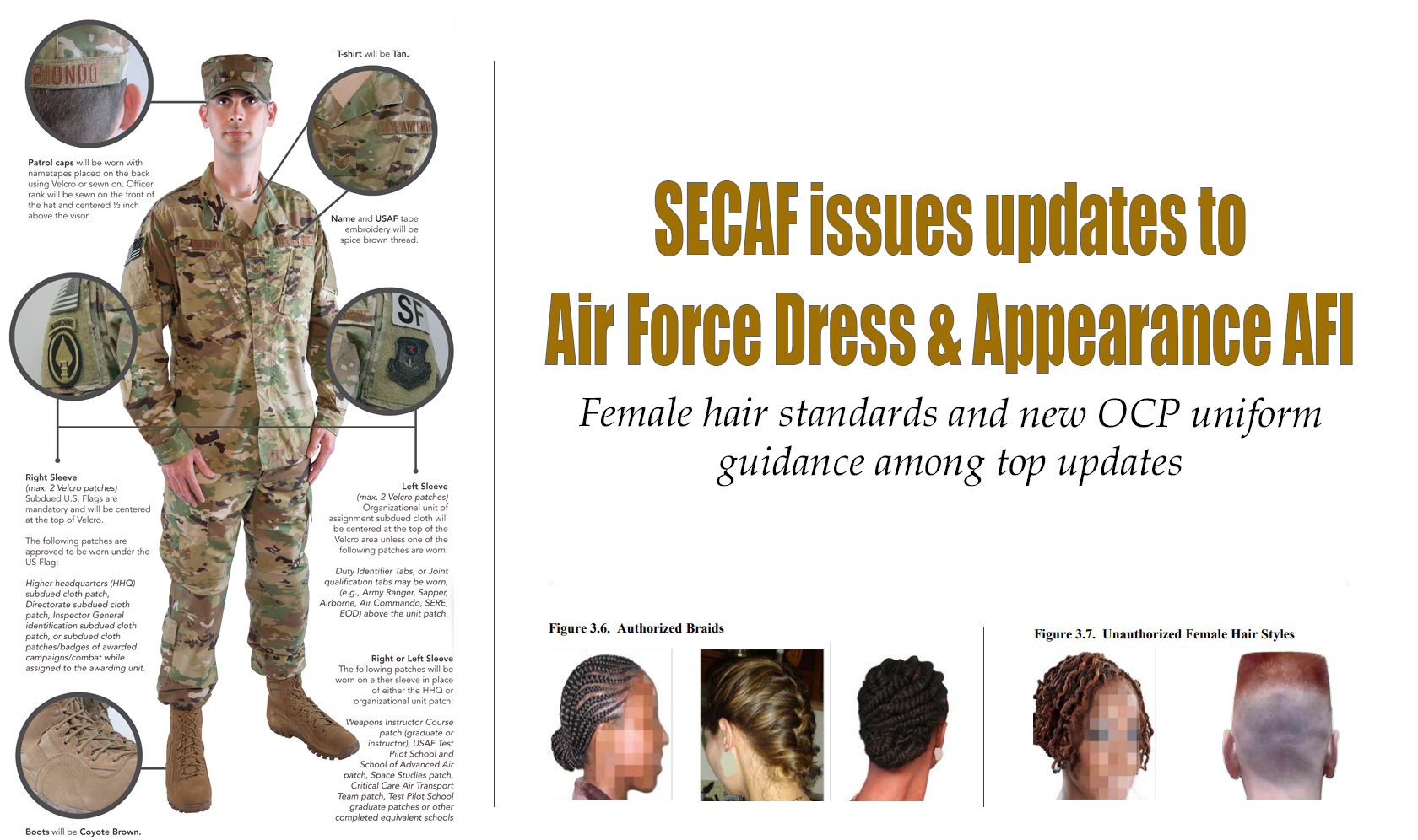 air force grooming standards: haircut and beard regulations