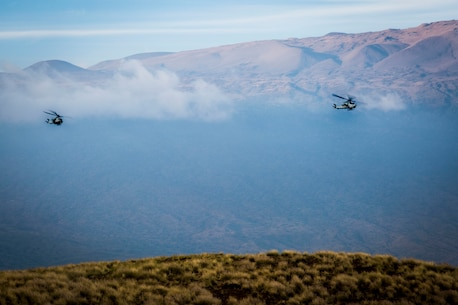 U.S. Marines conduct close air support during RIMPAC