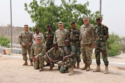 Kentucky Guard officers meet with partners in Djibouti