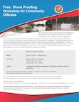 The Pittsburgh District is hosting a flood-proofing workshop for community officials and homeowners.