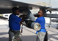 Airmen from the 62nd Aircraft Maintenance Unit compete in the 56th Maintenance Group 2nd Quarter Load Competition, July 13, 2018 at Luke Air Force Base, Ariz.