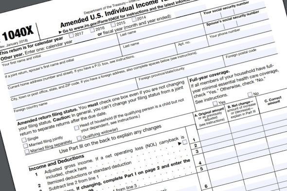 Veterans who are eligible for a refund for taxes paid on their disability severance payment can submit a 1040X Amended U.S. Individual Tax Return for their reimbursement. Army Lt. Col. David Dulaney, the executive director for the Armed Forces Tax Council, said the Defense Department has identified more than 130,000 veterans who may be eligible for the refund.