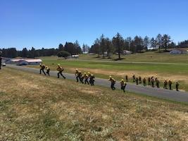 Guardsmen train for fire response
