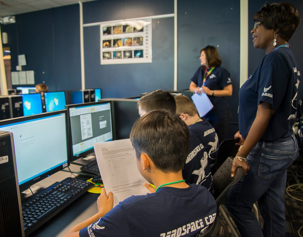STARBASE Stem camp at Wright-Patterson Air Force Base