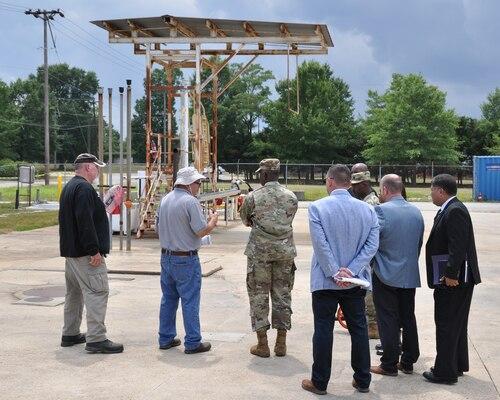DLA Director Lt. Gen. Darrell K. Williams (third from left) visits DLA Energy fuel assets at Fort Belvoir, Virginia, during a Real Property Task Force walkthrough July 17, 2018. Photo by Phil Prater