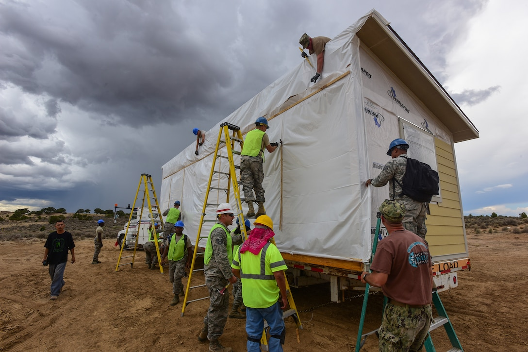 169th Civil Engineer Airmen build homes for Navajo veterans during training mission to New Mexico