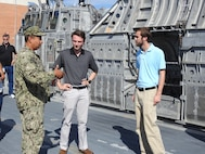 Naval Research Enterprise Internship Program (NREIP) interns toured Naval Surface Warfare Center Panama City Division (NSWC PCD) facilities to learn about various projects and mission areas at NSWC PCD July 12, 2018. U.S. Navy photos by Susan H. Lawson