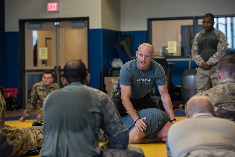 The 193rd Special Operations Security Forces Squadron, Pennsylvania Air National Guard, complete a defensive tactics course July 11-13, 2018 in Middletown, Pennsylvania