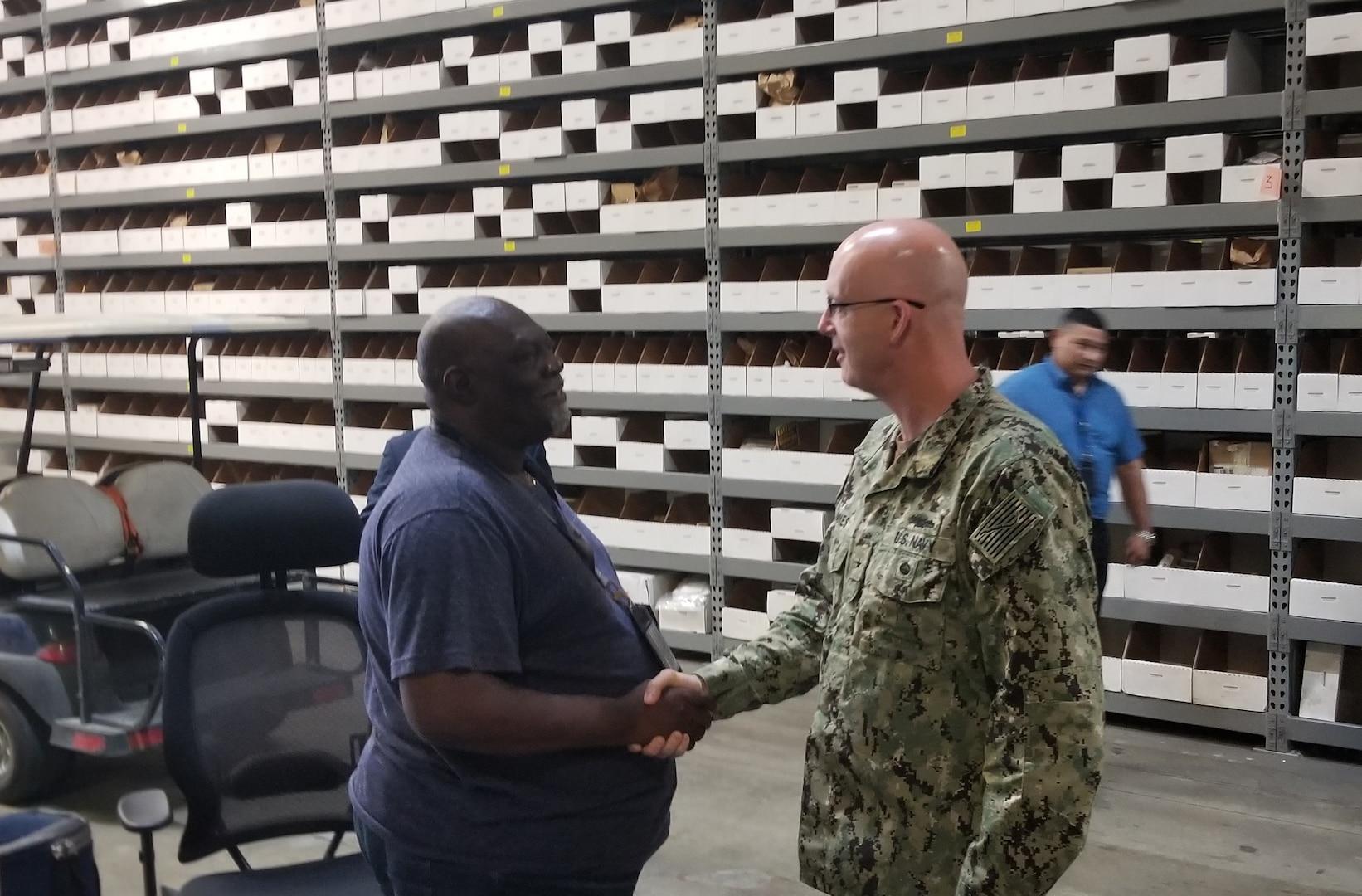 New Distribution commander visits Corpus Christi site