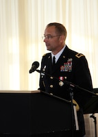 Maj. Gen. William H. Graham speaks at ceremony